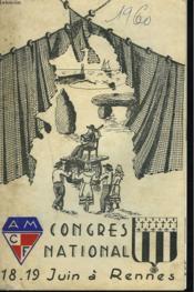 CONGRES NATIONAL A.M.C.F. 18-19 JUIN à RENNES. - Couverture - Format classique