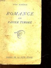 Romance Sur Papier Timbre - Couverture - Format classique