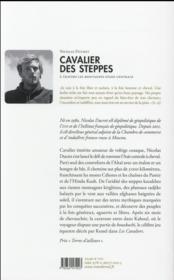 Cavalier des steppes - 4ème de couverture - Format classique