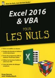 Excel 2016 & VBA pour les nuls - Couverture - Format classique