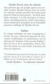 Contes initiatiques peuls - 4ème de couverture - Format classique