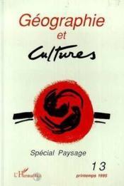 Geographie Et Cultures 13 Special Paysage - Couverture - Format classique