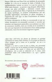 Les Alterations De La Personnalite - 4ème de couverture - Format classique
