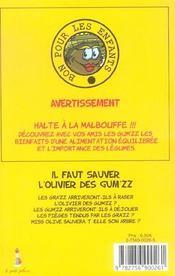 Il Faut Sauver L'Olivier Des Gum'Zz - 4ème de couverture - Format classique