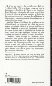 L'assassinat de Marat 1793 - 4ème de couverture - Format classique