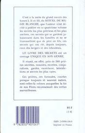 Rituel de magie blanche - t. 4 - 4ème de couverture - Format classique
