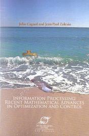 Information processing recent mathematical advances in optimization and control - Intérieur - Format classique