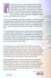 Information processing recent mathematical advances in optimization and control - 4ème de couverture - Format classique