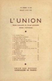 L'union, revue mensuelle du clergé paroissial, 76e année, n°653, juillet aout - Couverture - Format classique