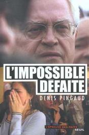 Impossible Defaite (L') - Intérieur - Format classique