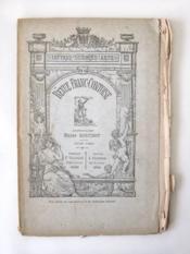 Revue Franc-Comtoise. Juin 1884 - Couverture - Format classique