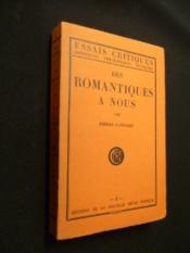 Des Romantiques à nous - Couverture - Format classique