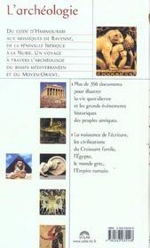 L'Archeologie - 4ème de couverture - Format classique