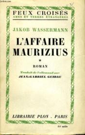 L'Affaire Maurizius, Tomes 1 Et 2 - Couverture - Format classique