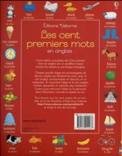 Les cent premiers mots en anglais - 4ème de couverture - Format classique