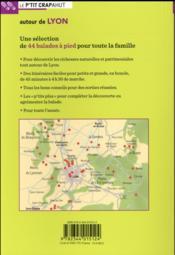 Autour de Lyon - 4ème de couverture - Format classique