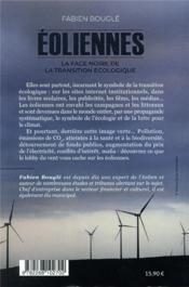 Éoliennes : la face noire de la transition écologique - 4ème de couverture - Format classique