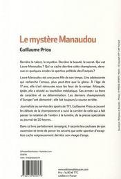 Le mystère Manaudou - 4ème de couverture - Format classique