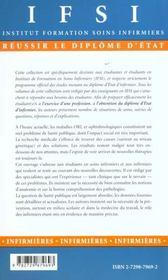 Soins Infirmiers Aux Personnes Atteintes D'Affections Orl Stomatologiques Et Ophtalmologiques - 4ème de couverture - Format classique