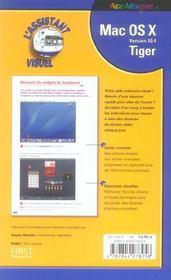 Mac Os X 10.4 Tiger - 4ème de couverture - Format classique