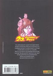 20th century boys t.13 - 4ème de couverture - Format classique