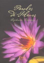 Boite Paroles De Fleurs - Couverture - Format classique