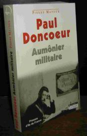 Paul Doncoeur, aumonier militaire - Couverture - Format classique