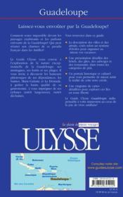 Guadeloupe 5eme edition (5e édition) - 4ème de couverture - Format classique