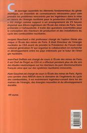 Introduction au génie atomique - 4ème de couverture - Format classique