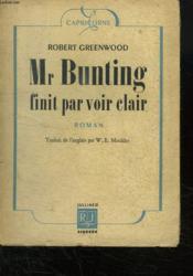 Mr Bunting Finit Par Voir Clair. - Couverture - Format classique