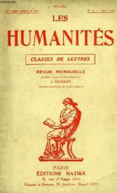 LES HUMANITES, CLASSES DE LETTRES, 32e ANNEE, N° 314, N°6, MARS 1956 - Couverture - Format classique