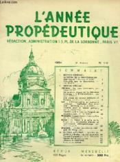 L'ANNEE PROPEDEUTIQUE, N° 1-2, 1954, 6e ANNEE - Couverture - Format classique