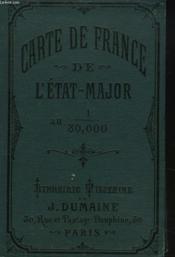 Carte De France D'Etat-Major Au 1/80.000. Bressuire - Couverture - Format classique