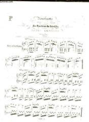 Rondinette Pour Le Piano Sur Un Motif Du Barbier De Seville De Rossini. - Couverture - Format classique