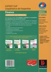 DSCG 2 ; finance ; corrigés du manuel (5e édition) - 4ème de couverture - Format classique