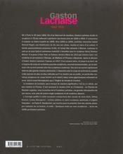 Gaston lachaise - (1882-1935) - 4ème de couverture - Format classique