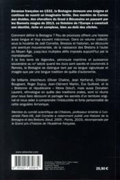 La Bretagne, une aventure mondiale - 4ème de couverture - Format classique