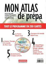 Mon atlas de prépa ; 80 thèmes pour réussir les concours - 4ème de couverture - Format classique