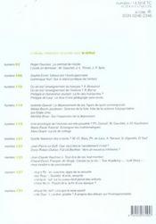 Revue Le Débat N.132 ; l'enfant-problème ; septembre-octobre 2004 - 4ème de couverture - Format classique