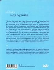 La vie négociable - 4ème de couverture - Format classique