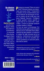 Un chimiste en cuisine - 4ème de couverture - Format classique