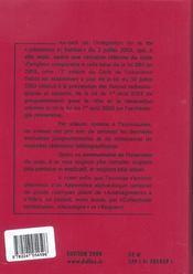 Code De L'Urbanisme 2004 ; Commente - 4ème de couverture - Format classique