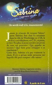 Sabrina T.6 ; Un Week-End Tres Mouvemente - 4ème de couverture - Format classique