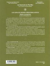 Les Espaces Boises Mediterraneens ; Situation Et Perspectives - 4ème de couverture - Format classique