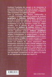 Cours D'Economie Generale Mecanismes Ecoles De Pensee Histoire Des Faits - 4ème de couverture - Format classique