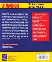 Le Magnum Creation De Sites Web - 4ème de couverture - Format classique
