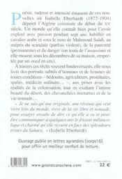 Nouvelles algériennes - 4ème de couverture - Format classique