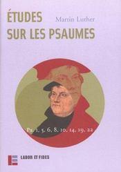 Etudes sur les psaumes - Intérieur - Format classique