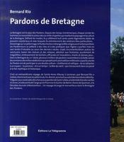 Pardons de Bretagne - 4ème de couverture - Format classique