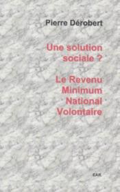 Revenu minimum nation volontaire - Couverture - Format classique